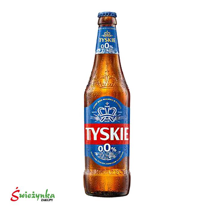 Piwo bezalkoholowe Tyskie - butelka