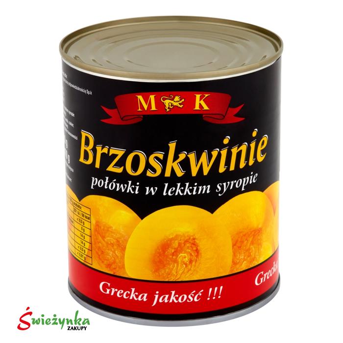 Brzoskwinie połówki w lekkim syropie MK 820g