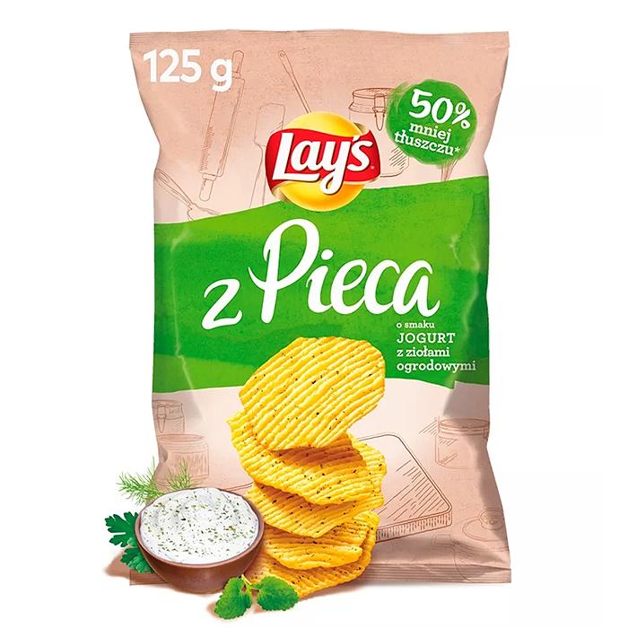 Lay's Oven Baked  chipsy o smaku jogurtu z ziołami 125g