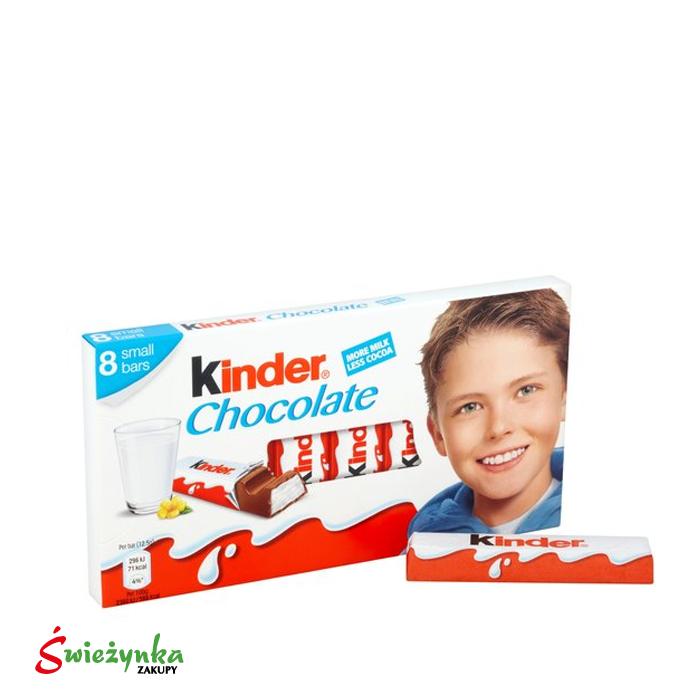 Batoniki z mlecznej czekolady z nadzieniem mlecznym Kinder Chocolate 100g