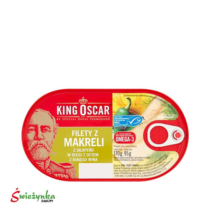 Filety z makreli w oleju King Oscar 170g