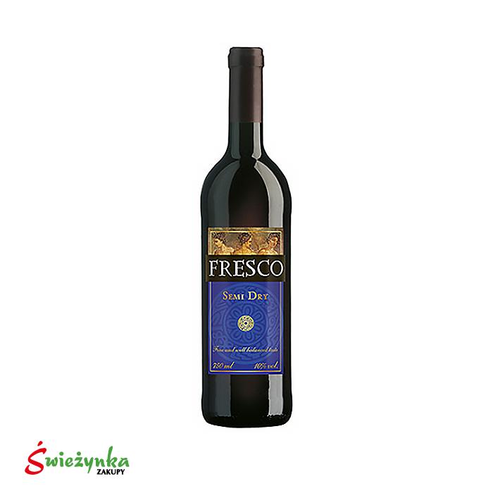 Wino Fresco półwytrawne czerwone  750ml