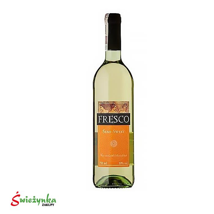Wino Fresco półsłodkie białe 750ml