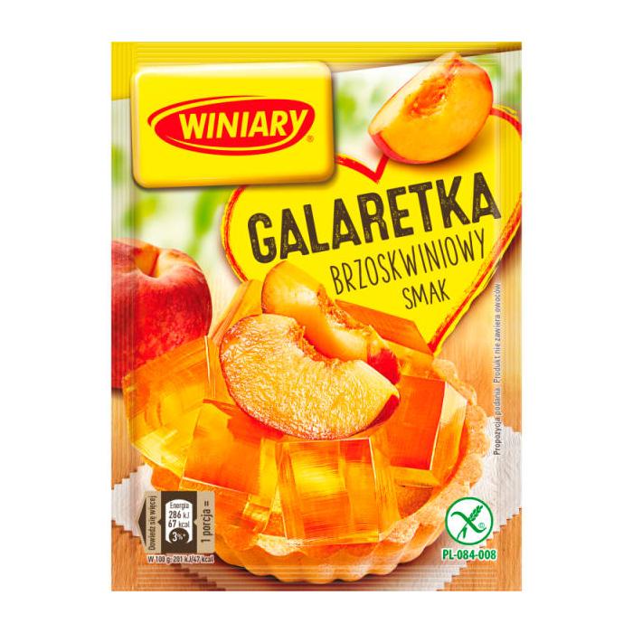 Galaretka o smaku brzoskwiniowym bezglutenowe Winiary 71g