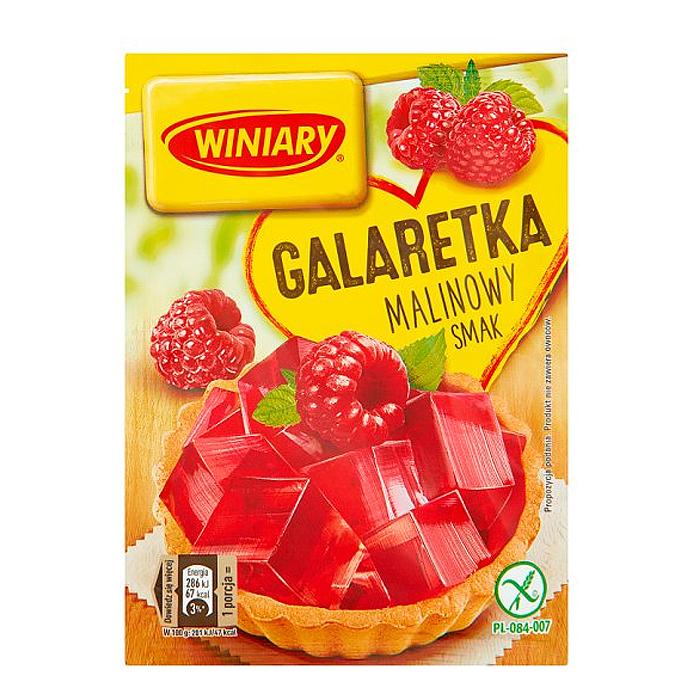 Galaretka o smaku malinowym bezglutenowa Winiary 71g