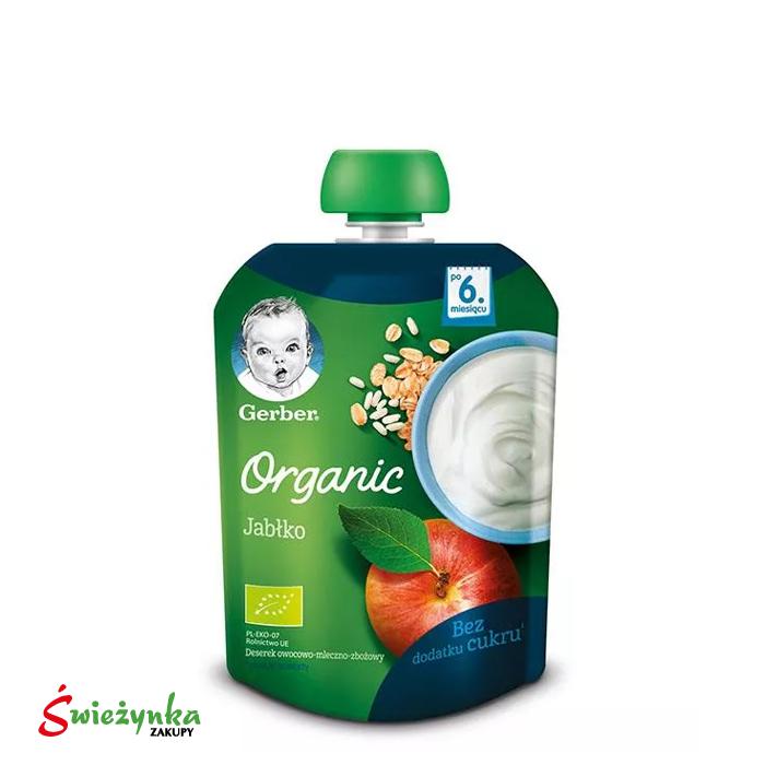 Deserek Organic Jabłko po 4. miesiącu Gerber 90g