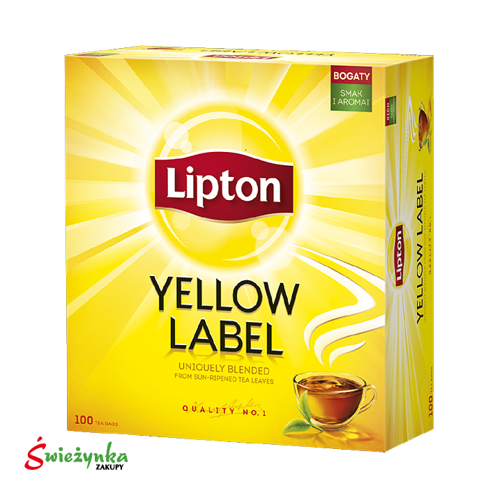 Herbata czarna Lipton Yellow Label 100 szt.  200g