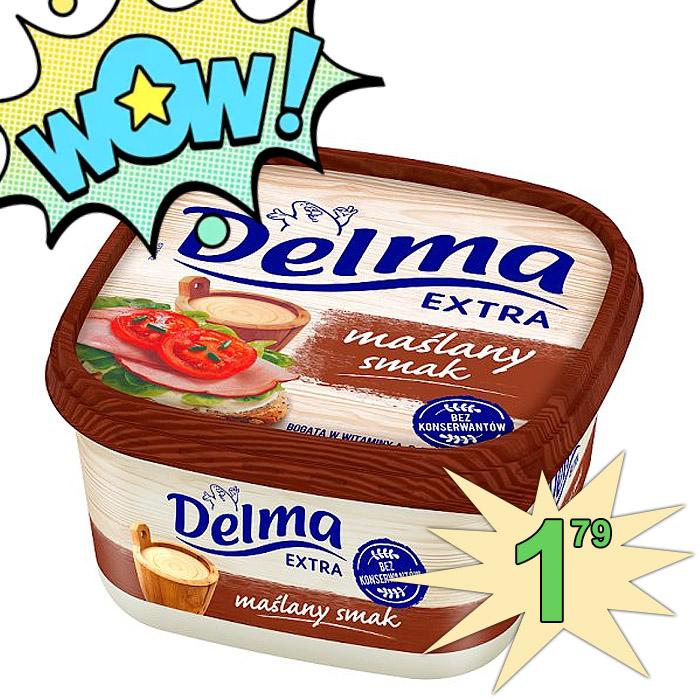 Delma Extra Margaryna o smaku masła 450g