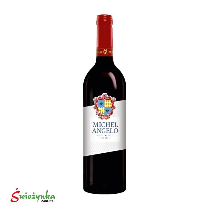 Wino Michel Angelo Rosso Clasico pół słodkie 750ml