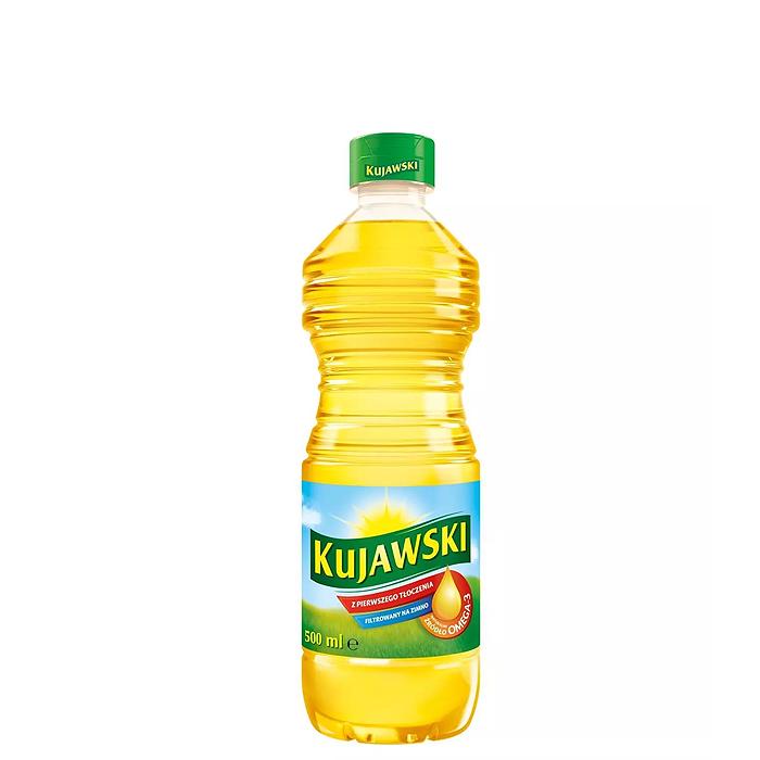 Kujawski olej rzepakowy z pierwszego tłoczenia 500ml