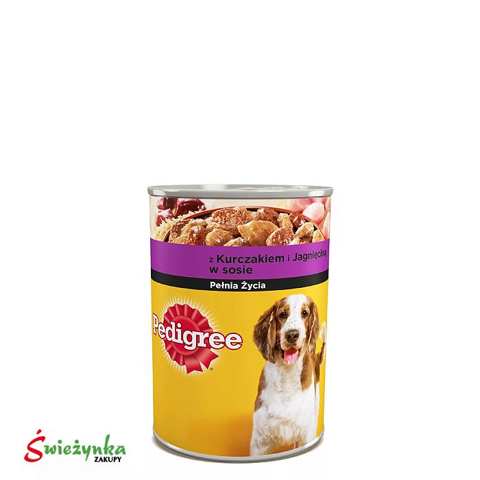 Pedigree Adult puszka mokra karma dla psów z kurczakiem 400g