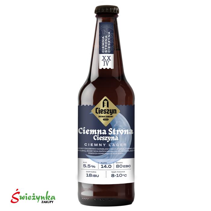 Piwo Ciemna Strona Cieszyna butelka 500ml