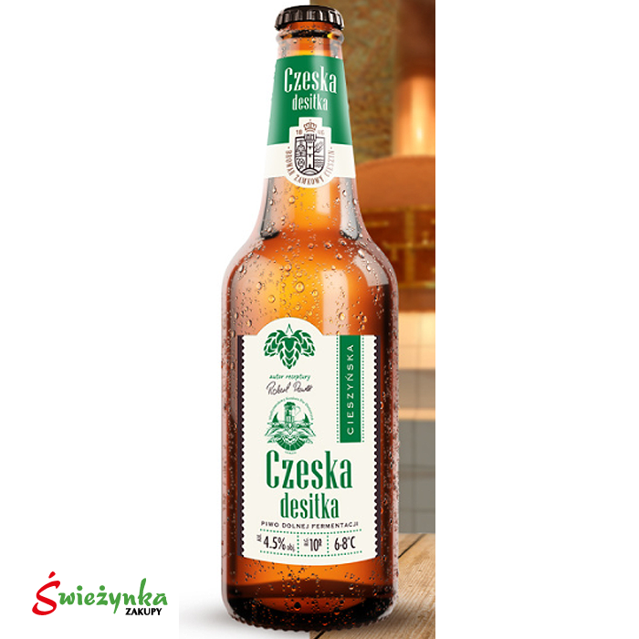 Piwo Czeska Desitka Cieszyn butelka 500ml
