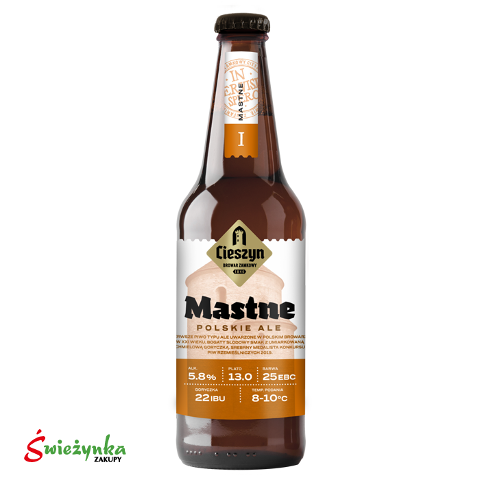 Piwo Mastne Cieszyn butelka 500ml