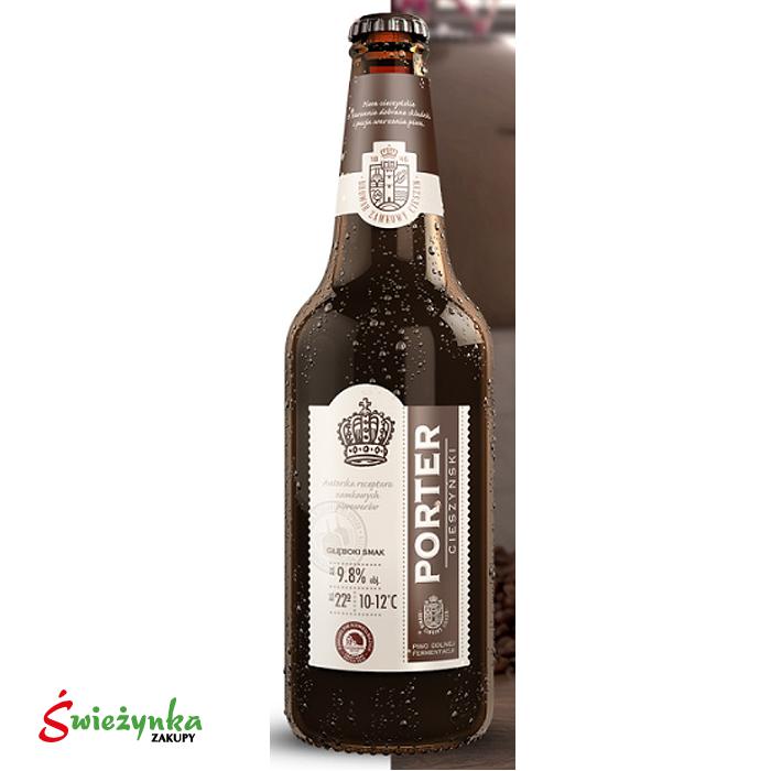 Piwo Porter Cieszyński butelka 500ml