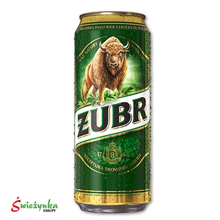 Piwo w puszce Żubr 500ml