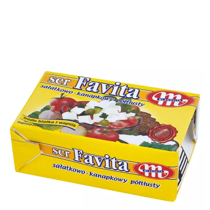 Ser sałatkowo-kanapkowy półtłusty Mlekovita  Favita 270g