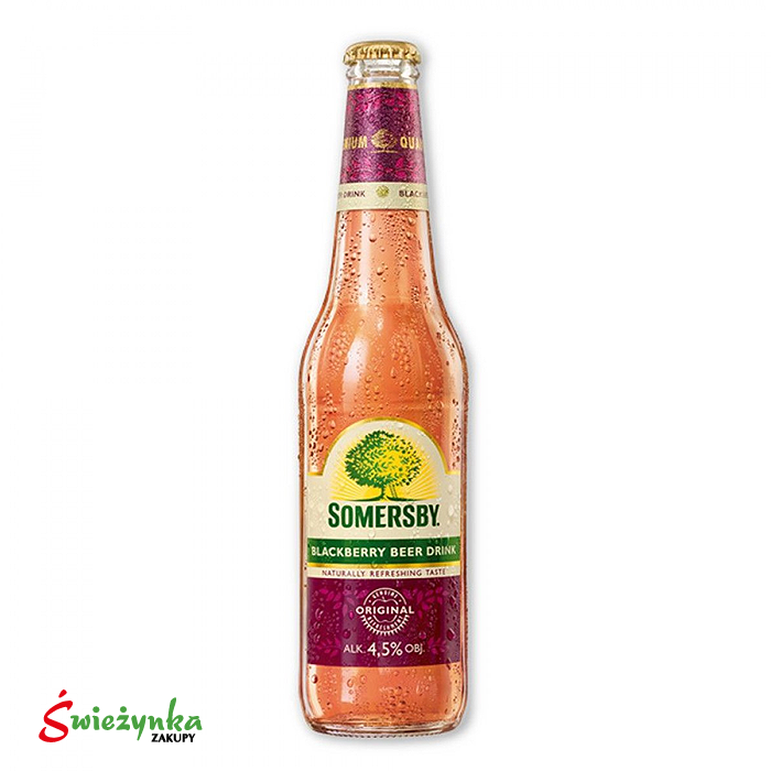 Napój piwny o smaku jeżynowym w butelce Somersby 400ml