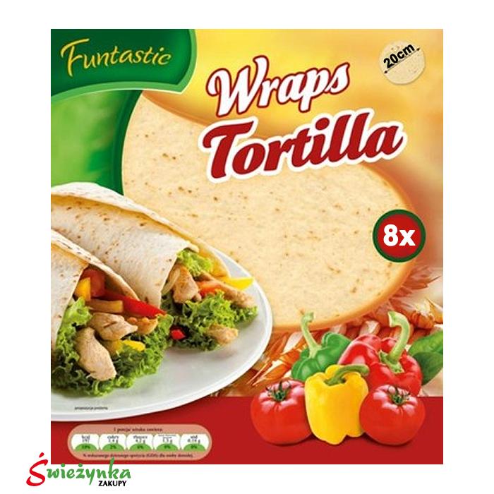 Tortilla Wraps Fantastic 20 cm 8 sztuk 295g