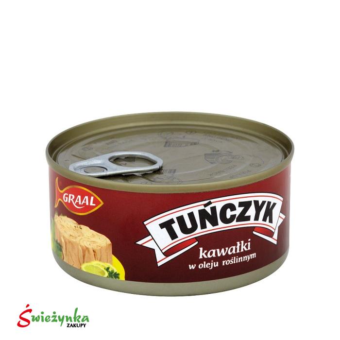 Tuńczyk kawałki w oleju roślinnym Graal 170g