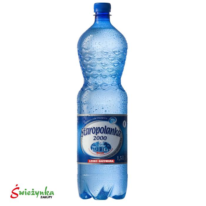 Woda mineralna lekko gazowana Staropolanka 1,5L