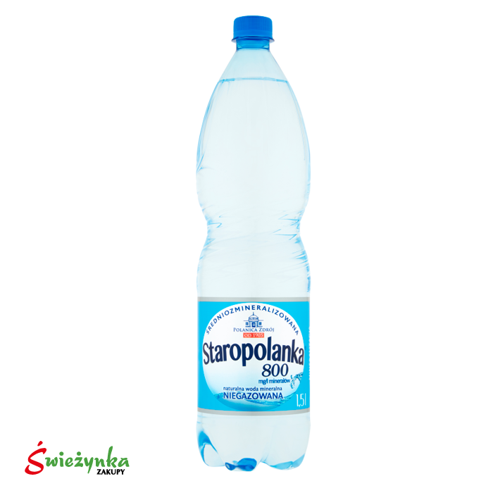 Woda mineralna niegazowana Staropolanka 1,5 L