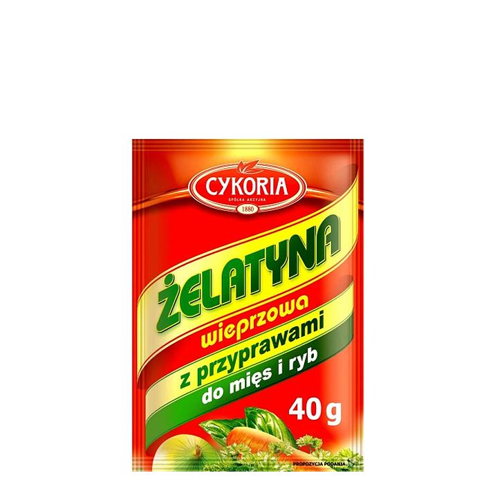Żelatyna spożywcza wieprzowa z przyprawami Cykoria 40g