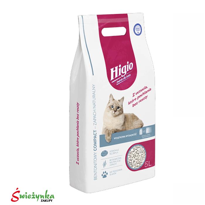 Żwirek dla kota Zapach Naturalny Higio 5L