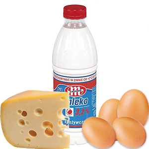Mleko, nabiał, jajka